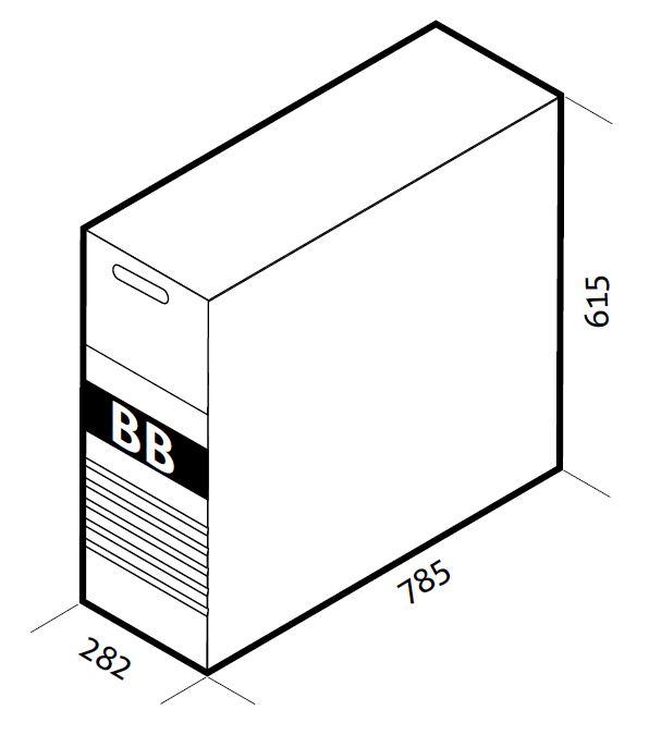 1 Stk Batteriebox leer, Lader, 240V mit Sicherungen/Verbinder USAC240A0A