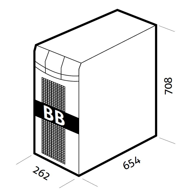 1 Stk Batteriebox für USSPH08 und USSPH10 240V 9Ah (inkl. Batt.) USBB240A5S