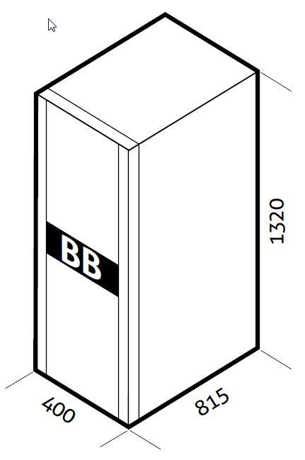 1 Stk Batteriebox für USSD1000DR 240V 40Ah (inkl. Batterien) USBB240B1D
