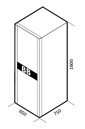 1 Stk Batteriebox für USSPH10ER 240V 80Ah (inkl. Batterien) USBB240N1-