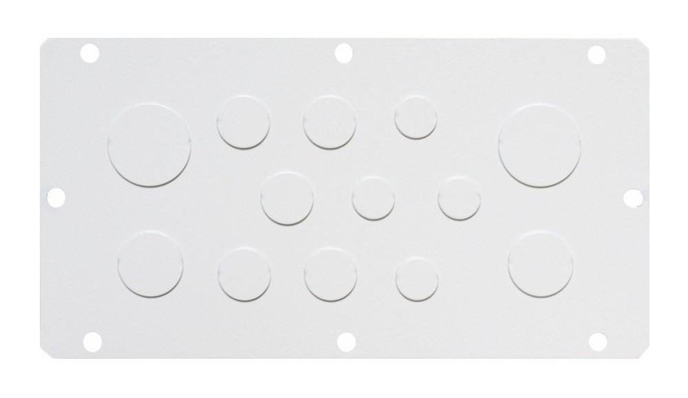 1 Stk Flansch 210x96, Ausprägung 4xM16, 5xM20, 2xM25, 2xM30 WSFA0011--