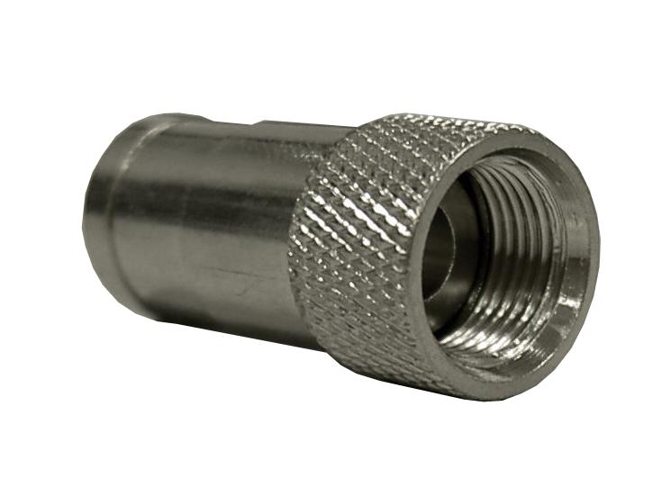 1 Stk Koax F-Stecker Push-On, HF-dicht, für Kabel 6,6 - 6,8mm XC1600701-