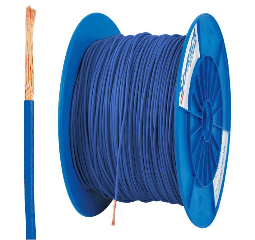3 Spulen H05V-K (Ysf) 1mm² blau, feindrähtig 300m