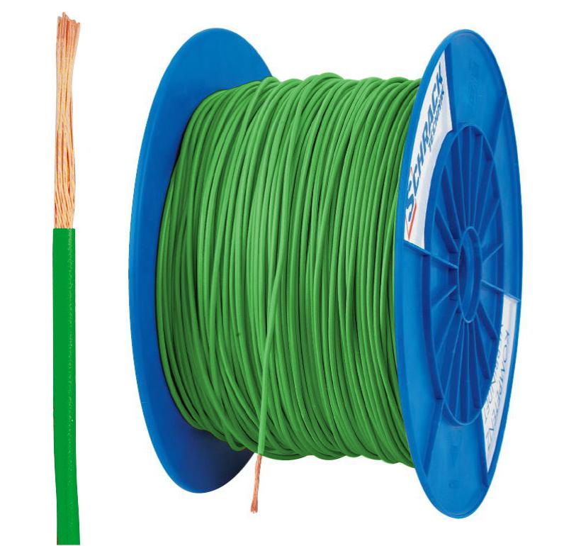 3 Spulen H05V-K (Ysf) 1mm² grün, feindrähtig 300m