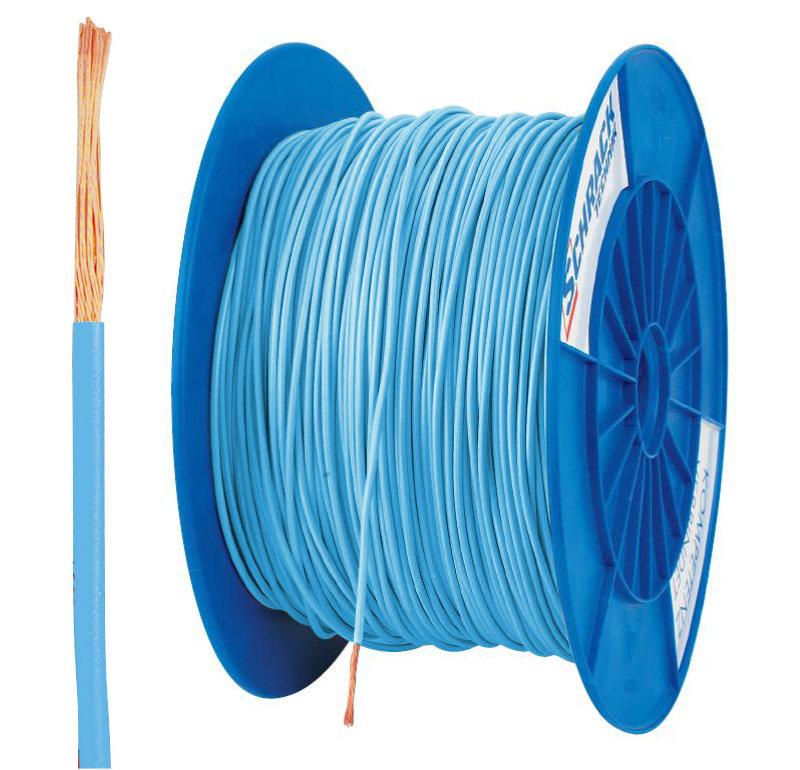 3 Spulen H05V-K (Ysf) 1mm² hellblau, feindrähtig 300m