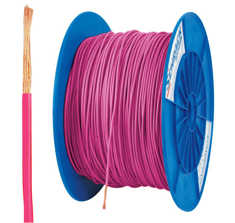 3 Spulen H05V-K (Ysf) 1mm² rosa, feindrähtig 300m