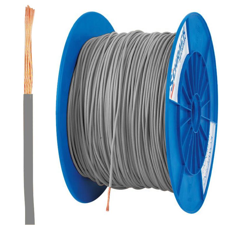 3 Spulen H07V-K (Yf) 1,5mm² grau, feindrähtig 300m