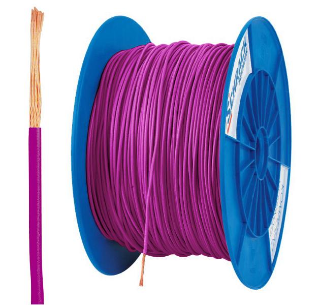 3 Spulen H07V-K (Yf) 1,5mm² violett, feindrähtig 300m