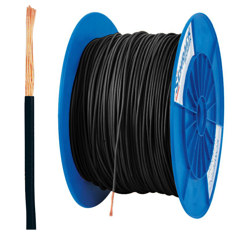 Spulen H07V-K (Yf) 2,5mm² schwarz, feindrähtig