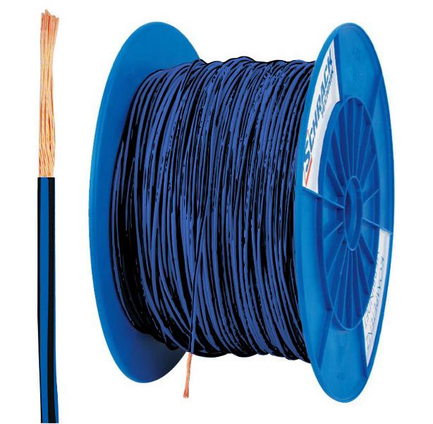 Spulen H07V-K (Yf) 2,5mm² blau/schwarz, feindrähtig