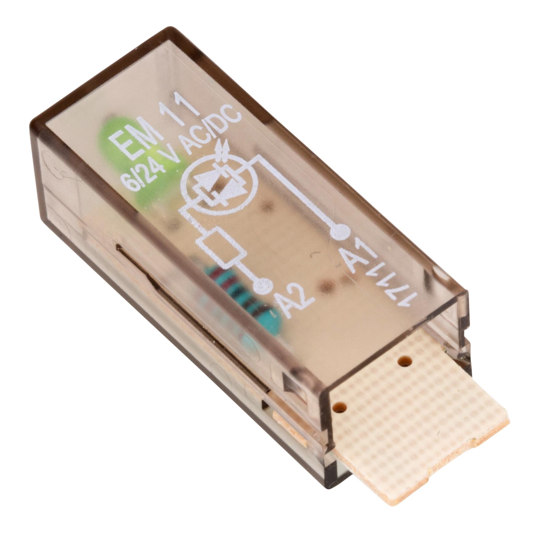 1 Stk LED-Steckmodul, grün, 6-24V AC/DC, EM11 YMLGA024--