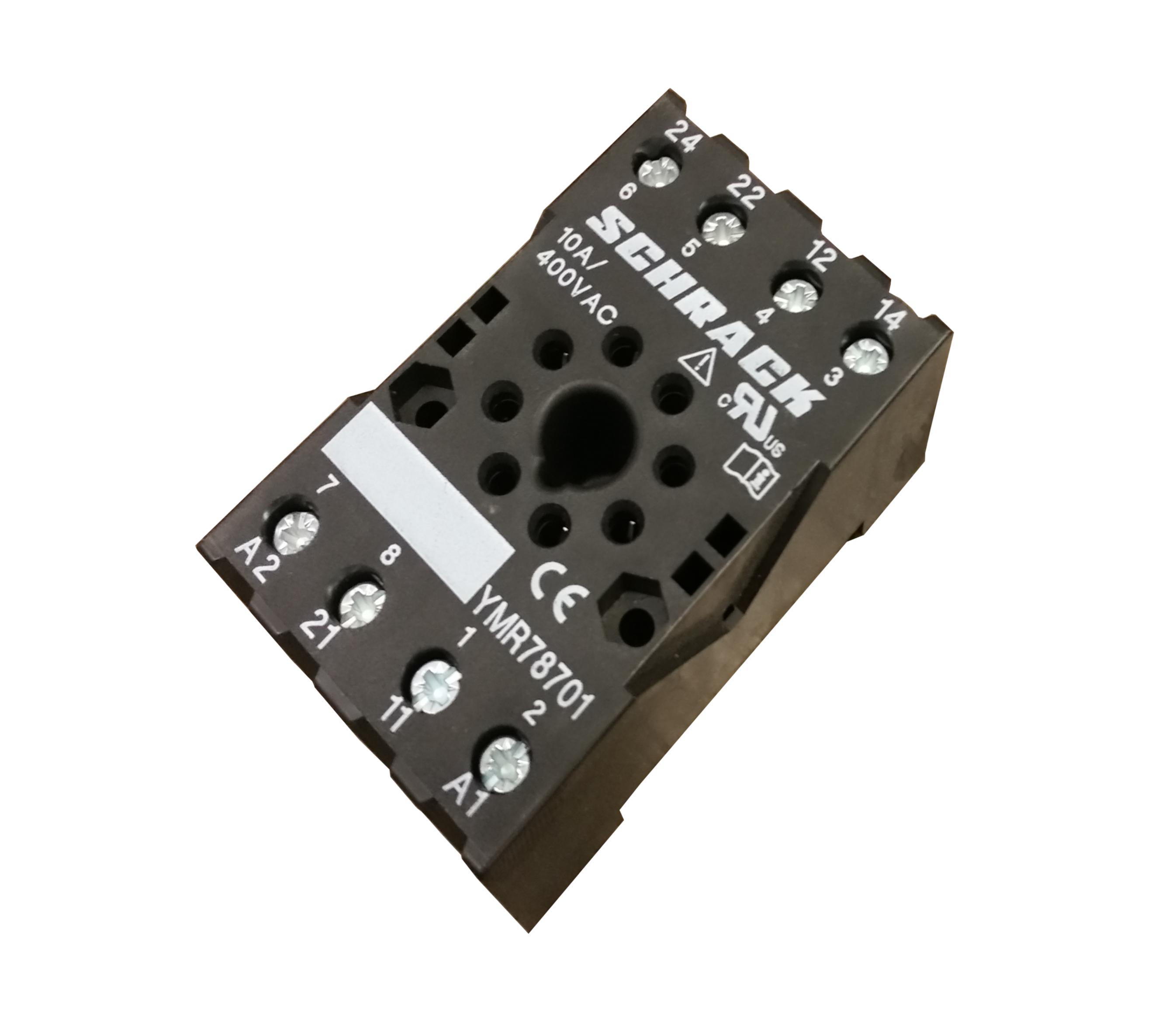 1 Stk 8-pol. Fassung mit Schraubanschlüssen f. 2-pol. MT-Relais YMR78701--