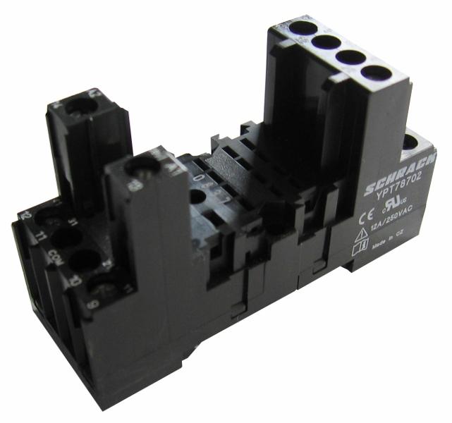 1 Stk DIN-Schienenfassung für PT2-Relais, 8-polig, 12A YPT78702--