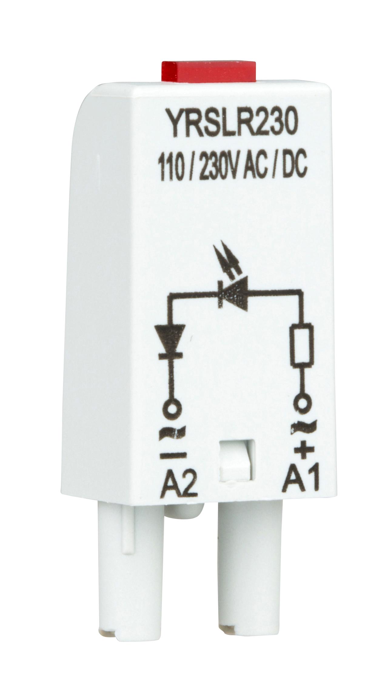 1 Stk LED-Steckmodul, rot, 110-230V AC, S-Relay Serie 4 YRSLR230--