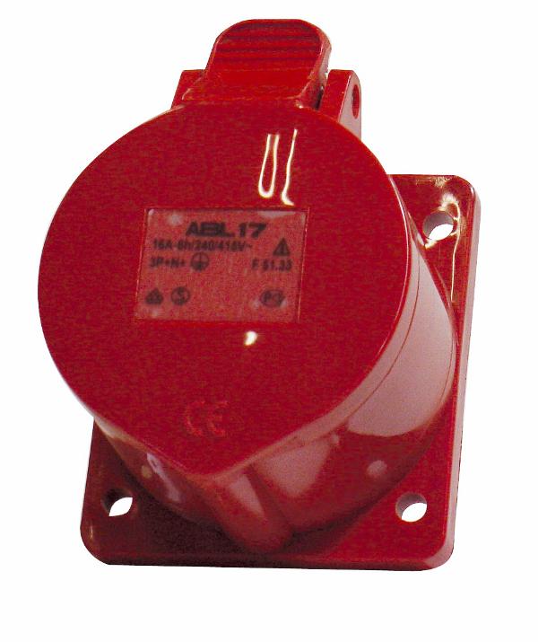 1 Stk CEE-Anbaudose 5x32A 400V IP44, gerade YY493632--