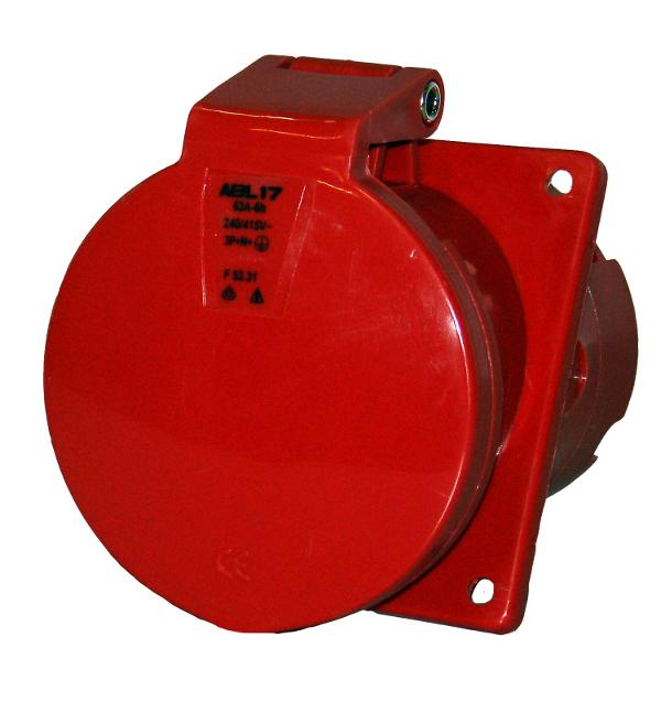 1 Stk CEE-Anbaudose 5x63A 400V IP44, Winkel 20° YY494563--