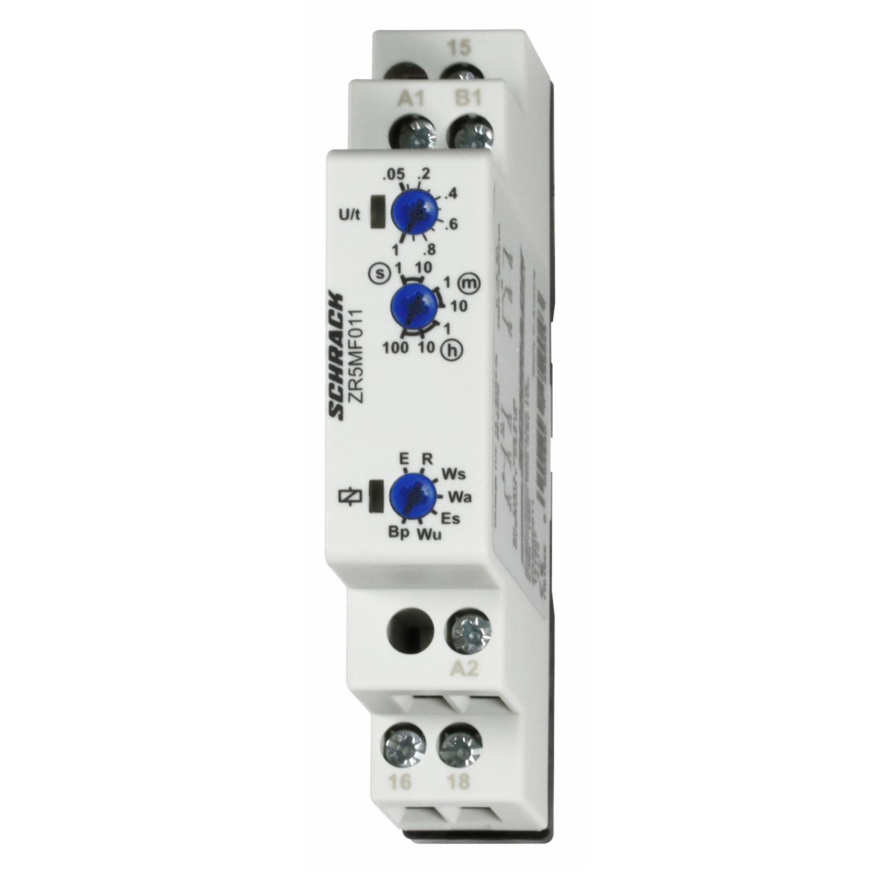 1 Stk Multifunktionsrelais, 12-240V AC/DC, 1 Wechsler, 8A/250V ZR5MF011--