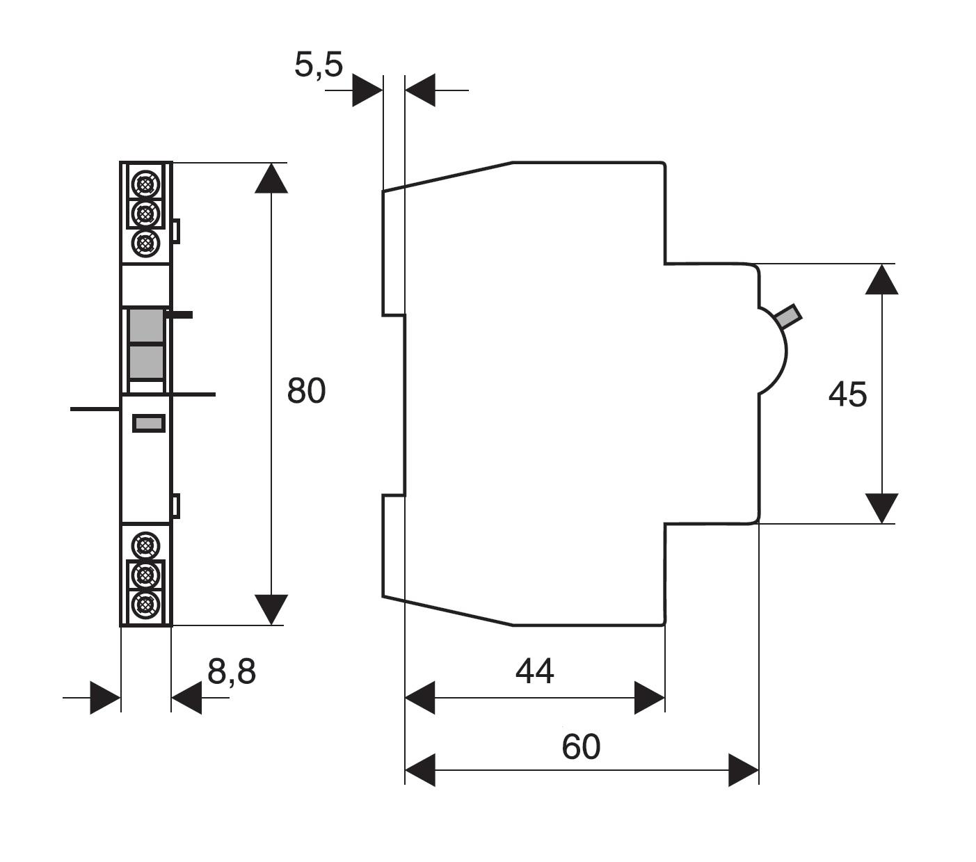 elektro austria ausl se signalkontakt 2 wechsler. Black Bedroom Furniture Sets. Home Design Ideas
