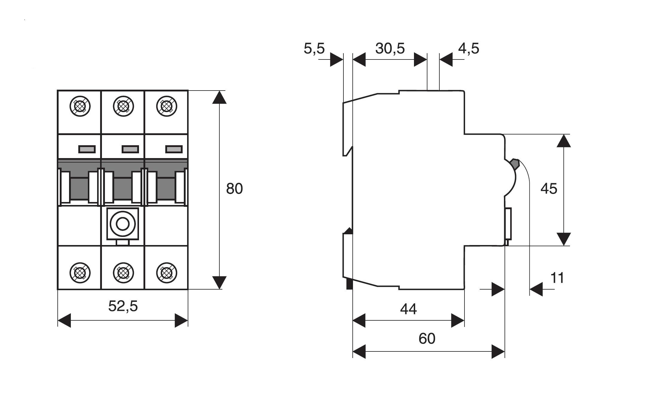 elektro austria tarifschalter 35a 3 polig serie tas. Black Bedroom Furniture Sets. Home Design Ideas