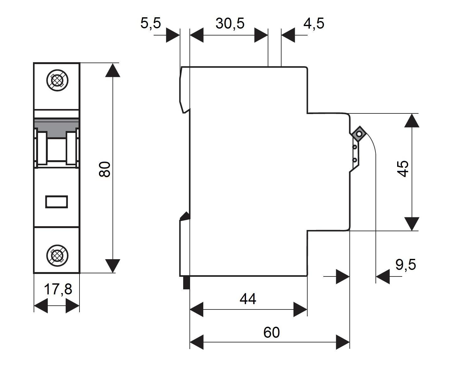 elektro austria sicherungsautomat kennlinie c 4a 1. Black Bedroom Furniture Sets. Home Design Ideas