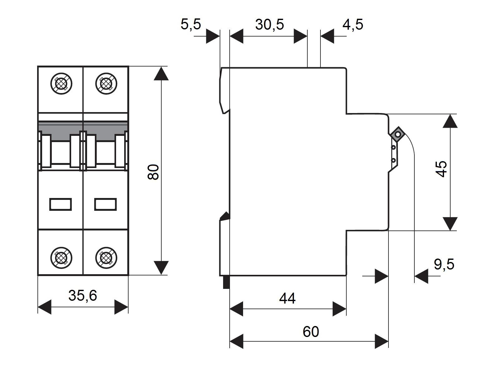 elektro austria sicherungsautomat kennlinie c 25a 2. Black Bedroom Furniture Sets. Home Design Ideas