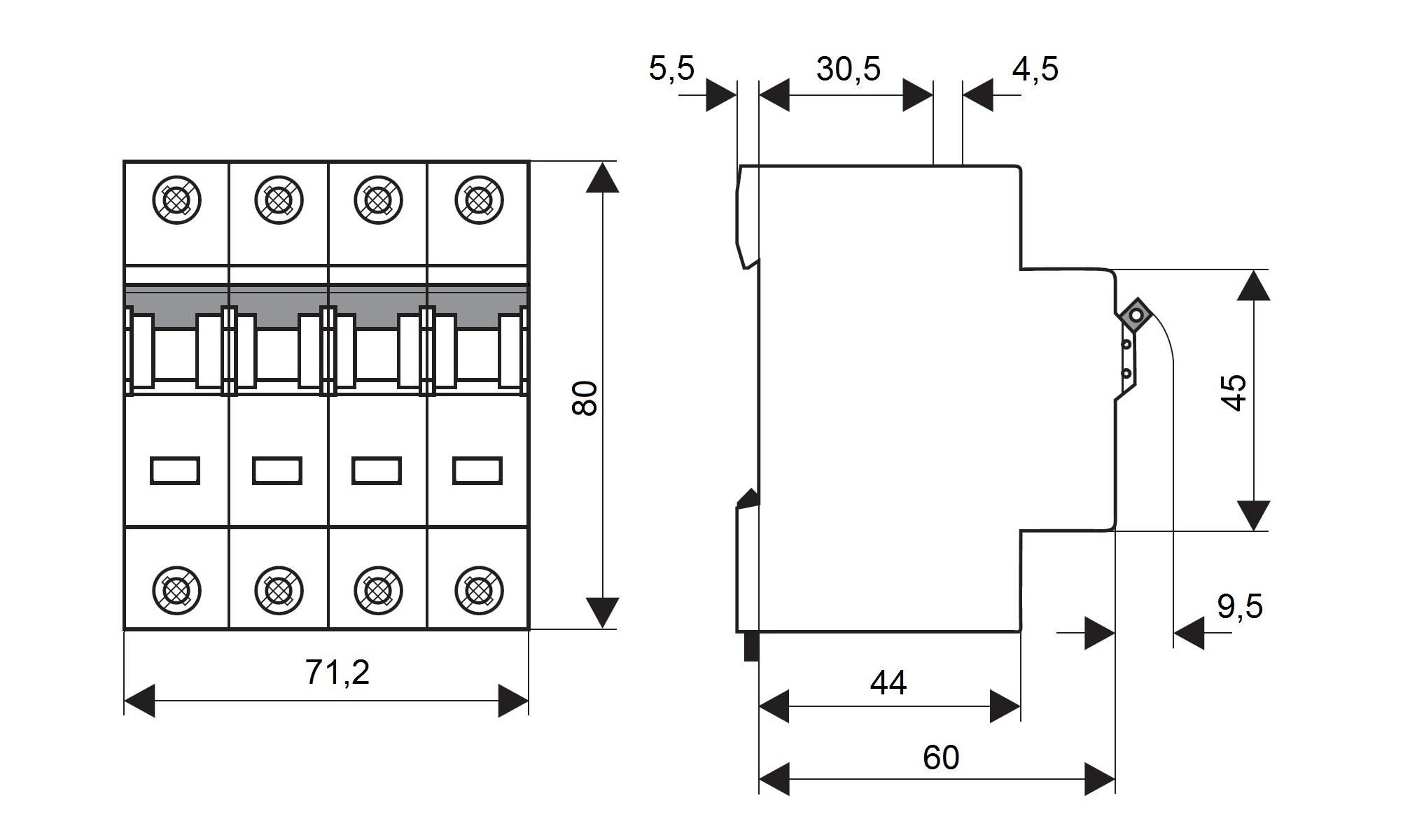 elektro austria sicherungsautomat kennlinie c 10a 4. Black Bedroom Furniture Sets. Home Design Ideas