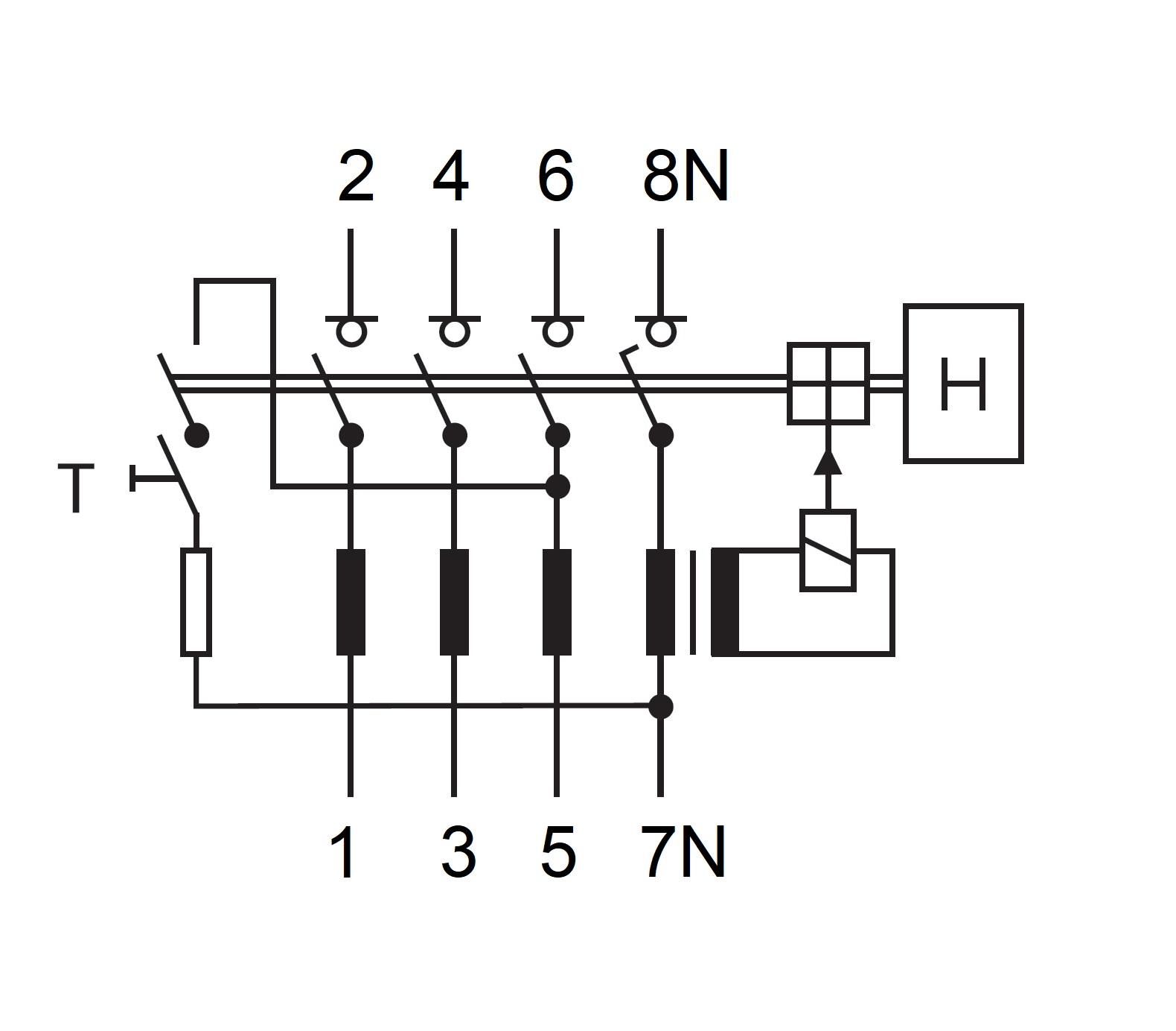 FI-Schalter, 40A, 4-polig, 100mA, vsf., Bauart S, Typ A - Online ...